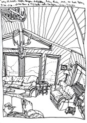 Sketchbook T 18 - Upper Canyon Outfitters, Alder, MT